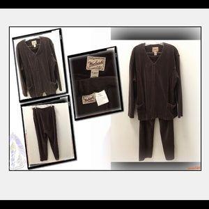 Woolrich Vintage Corduroy Brown 2 Pc. Pant Suit L